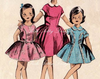 Vintage Dress Making Pattern Us 3 Girls Digital Download Printable Image (282)