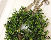 Boxwood Wreath - Flowerpot - Garden Wreath - Door Wreath - Front Door Decor