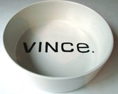 Custom order MEDIUM bowl with personalized name in any color on the inside