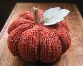 Items Similar To Hand Knit Pumpkin Fall Autumn Orange