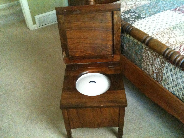 Antique commode wood toilet amp enamelware by buckcreekfurnishings