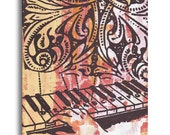 Musician Gift, Keyboard Piano Player, Original Panel Painting Art on Wood by Dolan Geiman