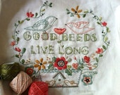 good deeds live long, a motto sampler to stitch and color with thread