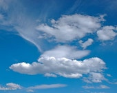 Sky and Clouds, Blue and White, Sympathy, Day Dream Perfection, Photograph or Greeting card