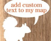Custom Text for Map & Pin Set