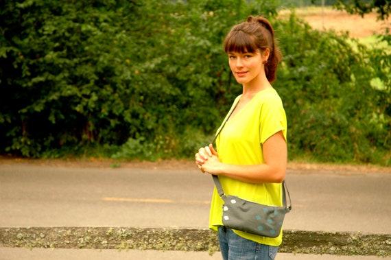 Half off Sale Pattie-small crossbody bag grey with Polka print