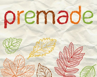 Etsy Banner Set Fall, Leaf Cover Photo, Autumn Shop Banner Set, Thanksgiving Etsy Banner, Hand Drawn, Banner and Icon Set