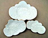 Ceramic Lace Cloud Nesting Trinket Dishes