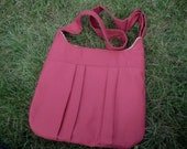Red Pleated Cross-Body Bag