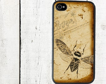 Sepia Bee Phone Case for  iPhone 4 4s 5 5s 5c SE 6 6s 7  6 6s 7 Plus Galaxy s4 s5 s6 s7 Edge