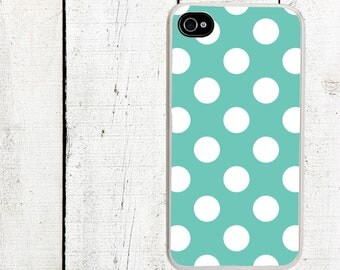 iphone 6 case Teal Polka Dot iPhone Case - Pattern iPhone 4 Case - Cell Phone Case - iPhone 5 Case