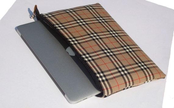 Ipad sleeve -  wool plaid - tartan print case
