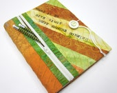 Fabric Sketchbook Cover w/ Zipper Pocket, Clearance Sale