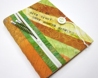 Fabric Sketchbook Cover w/ Zipper Pocket, Clearance Sale
