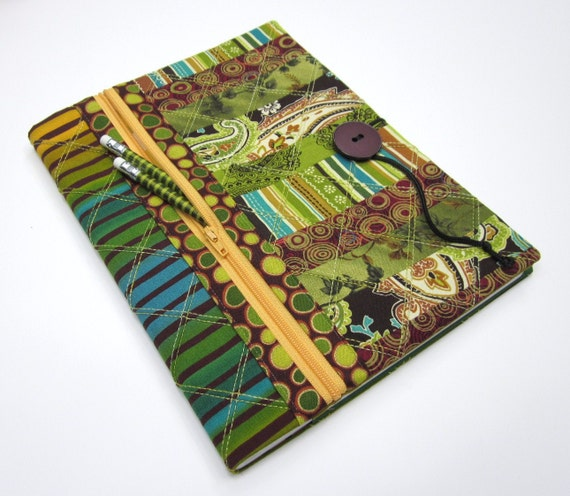 Green Lined Composition Notebook / Blank Book Journal