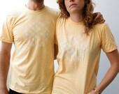 Summertime Waterfall T-Shirt, Butter & White (Unisex)