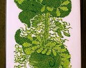 Kelp Tower Woodcut--AP