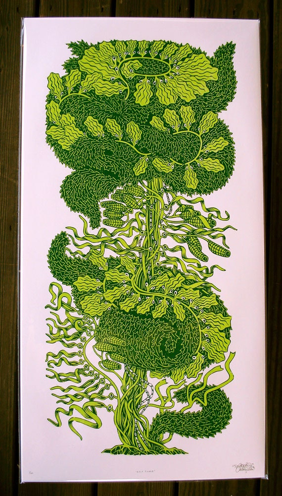 Kelp Tower Woodcut--AP