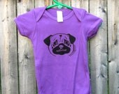 Pug Baby One-Piece in Ultra Violet Organic Cotton