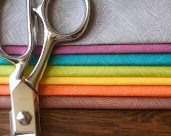 Woodgrain Herringbone - Original Fabric Design - Fat Quarter Seven Pack