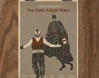 The Dark Knight Rises 16x12 Batman Movie Poster Print