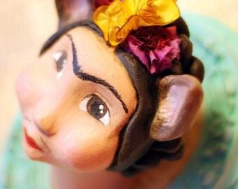 OOAK Original Mixed Media Frida Kahlo Art Doll