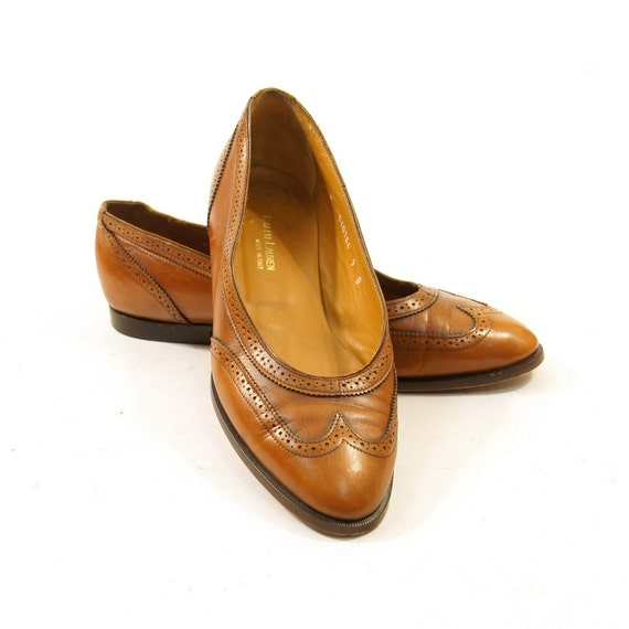 RESERVED for courtneygrow1 Ralph Lauren Wingtip Ballet Flats / Brown Leather / Women's sz 9