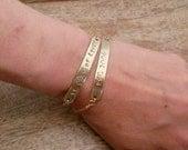 Gold Bar Bracelet Gift Set // Long Gold Bar Bracelet // Personalized Bar Bracelets // Custom Phrase Jewellery // Gift Under 100