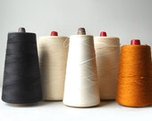 5 Industrial Thread Spool Cones, Autumn Colors, Vintage Sewing