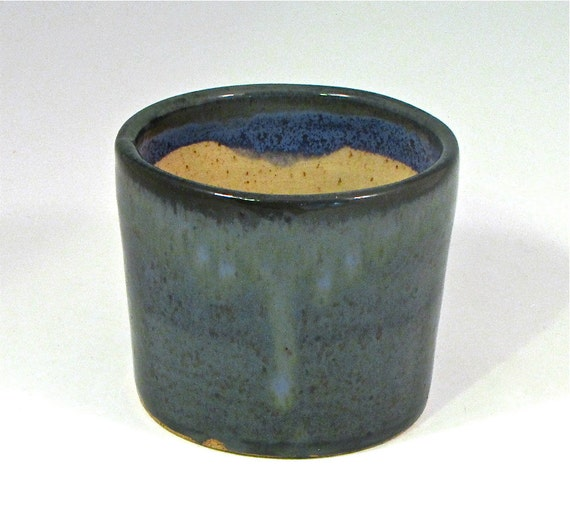 Mini Bread Baker, ovenproof pottery, microwave safe pottery, stoneware bread baker, blue green glaze