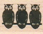 owl rubber stamp Steampunk Victorian  wood Mounted  unmounted or cling  rubber stamp    stamp number 6052