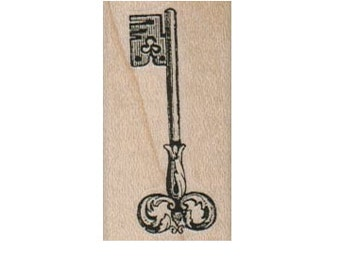 Steampunk Skeleton Key Victorian   stamp wood Mounted   rubber stamp    stamp number 6732