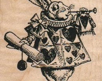 alice in wonderland rubber stamp March Hare Rabbit  tea party       12763   rubber stamps craft