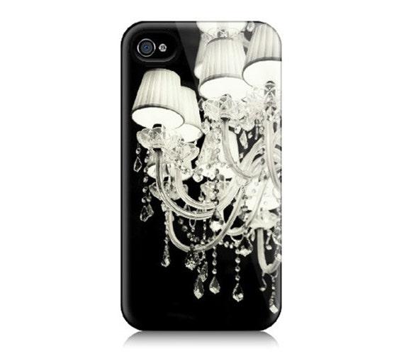 iPhone 4 Case, 4S iPhone Case - Black and White Chandelier Photograph, Glamourous, Feminine, Dramatic - Glamorama