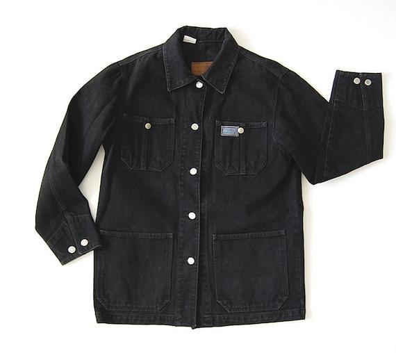 Black Denim Jacket / Pockets / Classic Ralph Lauren / s m l