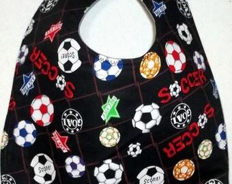 Baby Bib Soccer Balls Score Kick Play Sports