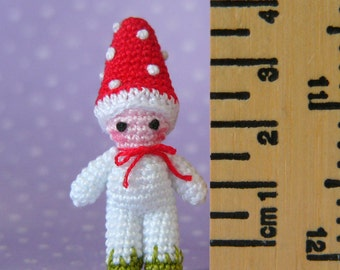 PDF PATTERN - Amigurumi Crochet Tutorial Pattern Miniature Toadstool Mushroom Boy