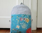 blue blooms backpack
