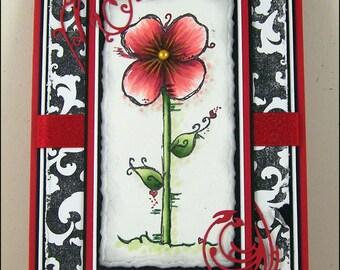 Bloom & Simplify Blank Handmade Handstamped Greeting Card