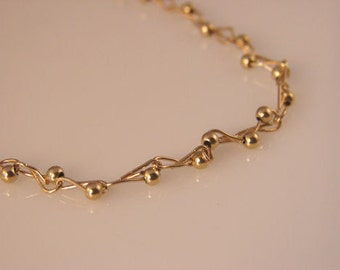 Handmade 14K Rolled Gold Necklace
