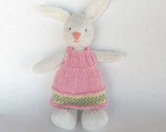 Natural Stuffed Animal Toy, handKnit by Woolies CUSTOM Order for YOU, Natural Childrens Toy