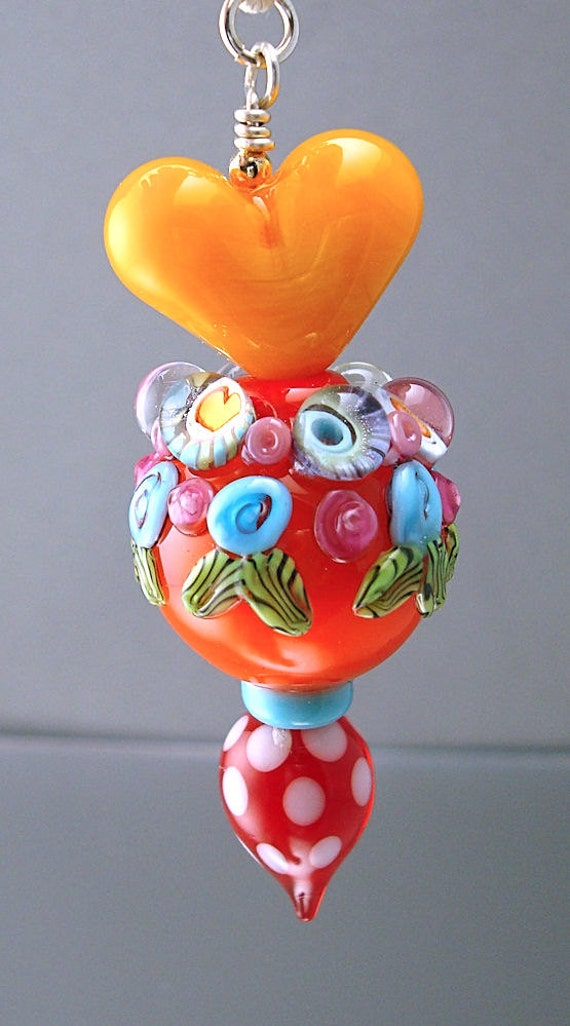Loribeads -Sunshine Special Edition Pendant- lampwork beads