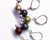 Madison Crochet Stitch Markers Removable Swarovski Pearls