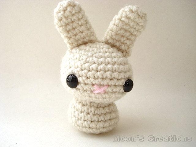 Amigurumi Doll Hair Bun : Cream Moon Bun Amigurumi Bunny Rabbit Doll with by ...