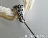 Changeable Bead Pendant . SML Sterling Bail 2 . Julie Nordine . CRAG . CreditRiverArtGlass