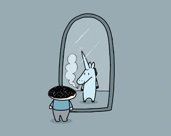 I'm a Unicorn Greeting Card