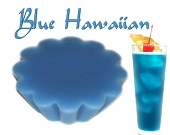 4 Blue Hawaiian Wax Tarts Wickless Candle Melts Tropical Scent