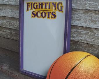 Fighting Scots Marker Board Football Basketball Volleyball sports purple yellow