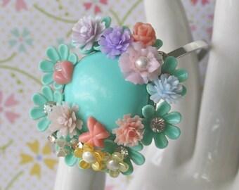 Vintage Flower Corsage Bracelet - Adair