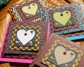 Classic Hearts, A Quartet of Gift Cards, Layered Papers, Patterns and Color
